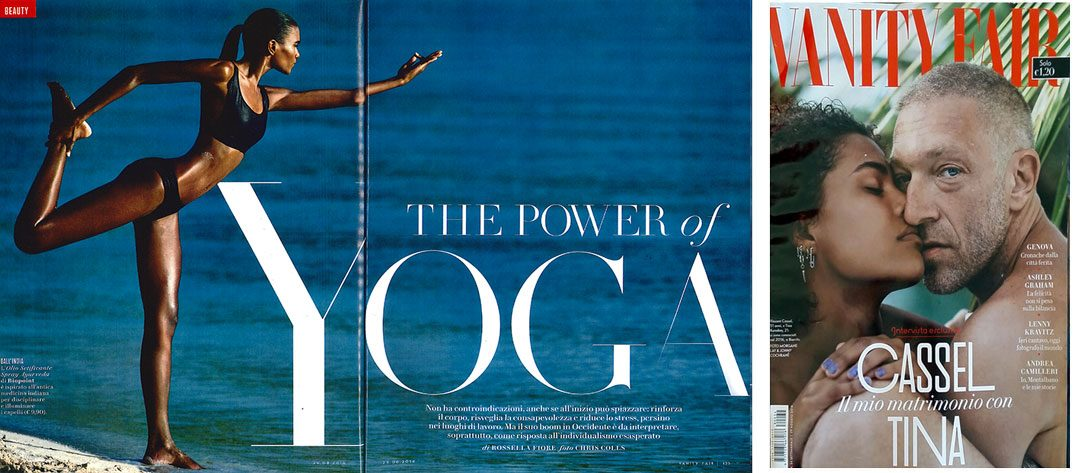 The power of Yoga – Vanity Fair Agosto 2018