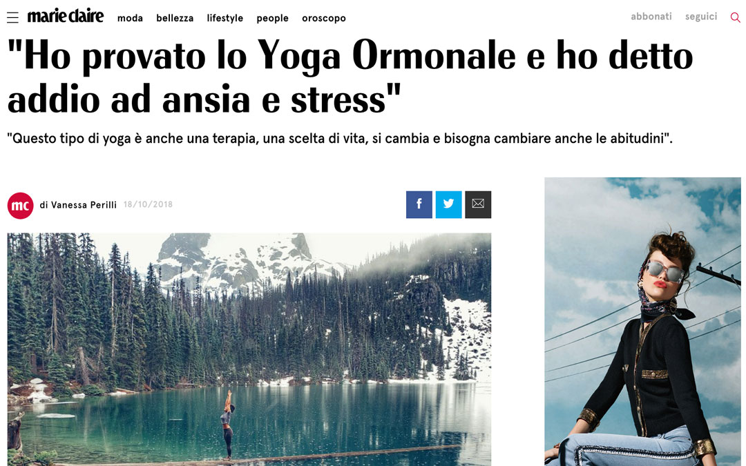 marie claire - yoga ormonale cosa e benefici quali asana o posizioni comprende e dove praticarlo in italia