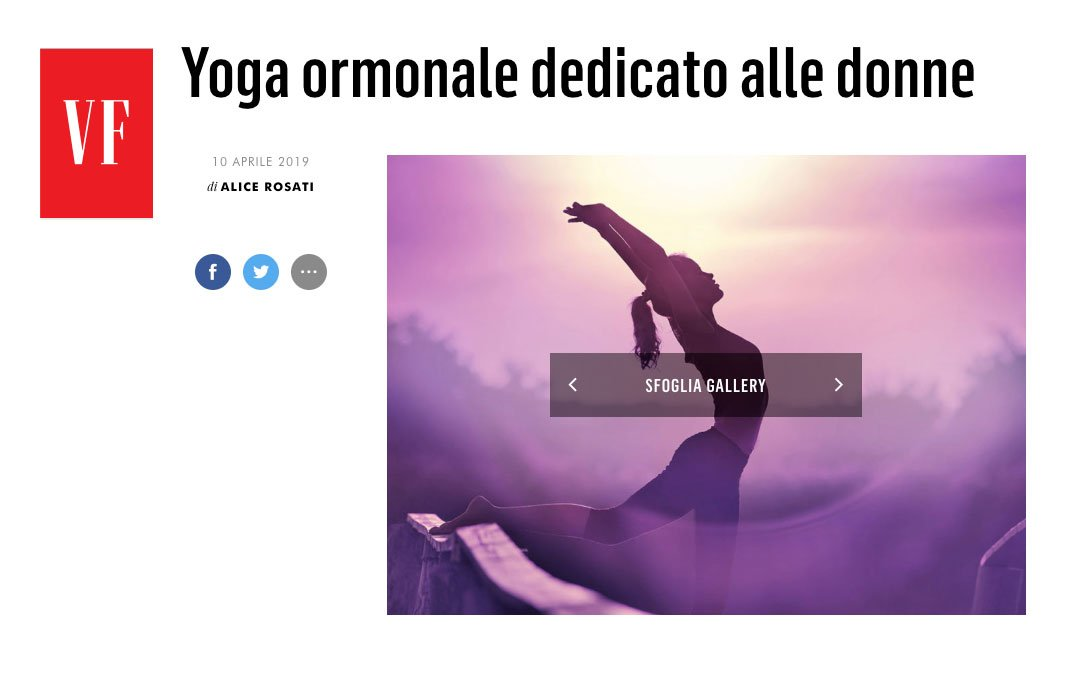 Yoga ormonale dedicato alle donne  – vanityfair.it