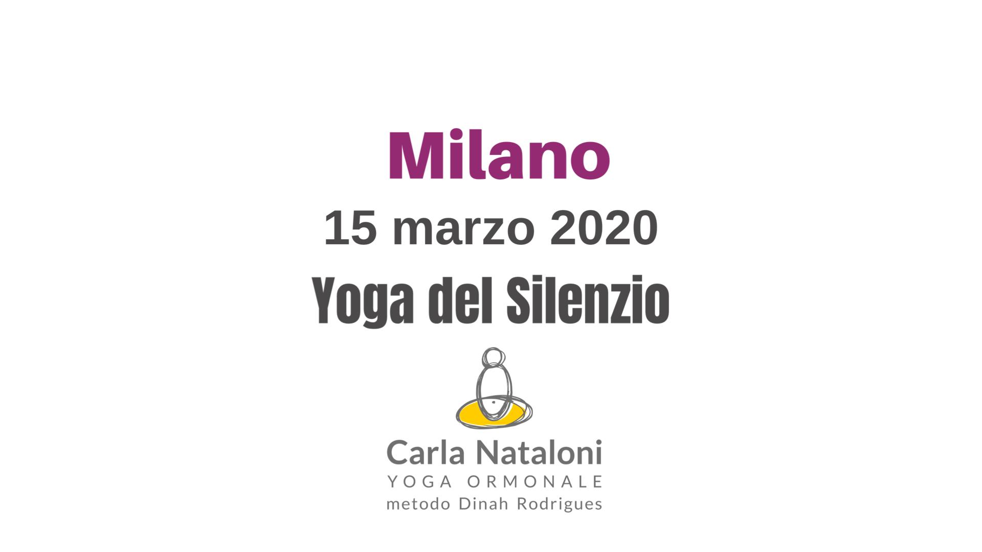 milano yoga del silenzio