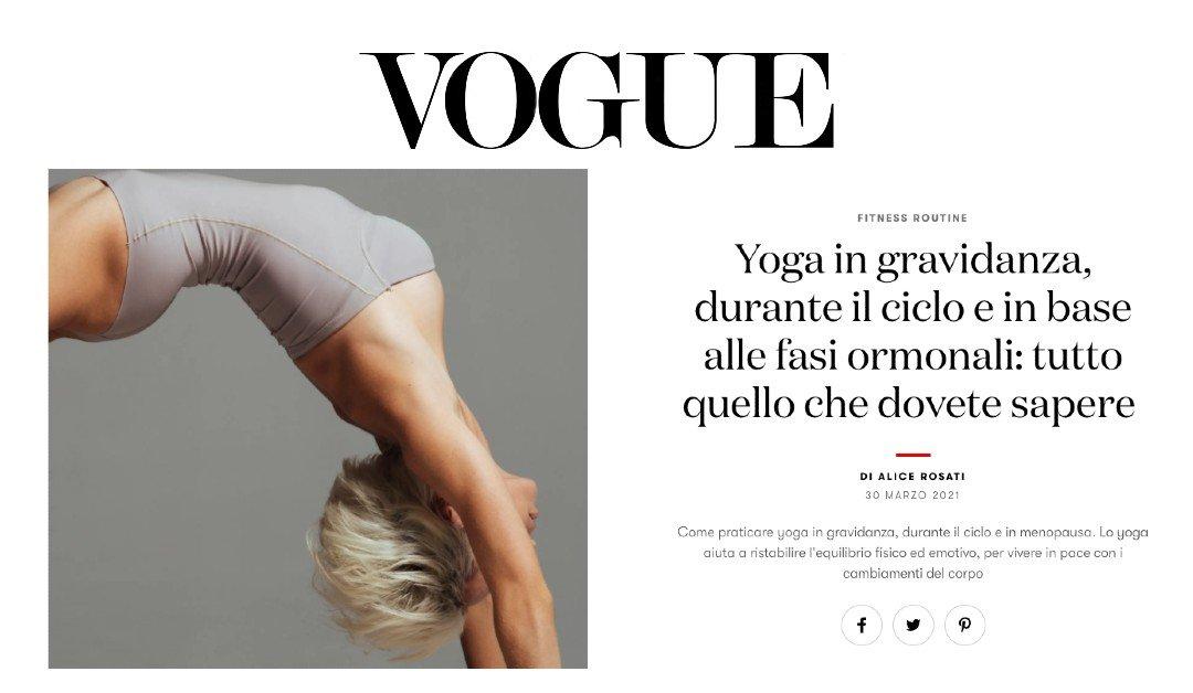 Vogue - Consigli Yoga in gravidanza